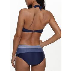 Gestreift Neckholder Sexy Bikinis Badeanzüge
