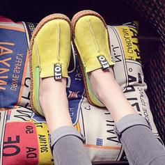 De mujer Ante Tacón plano Planos Cerrados con Material Block zapatos
