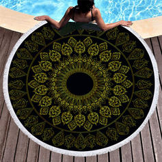 Retro/Vintage Oversized/round Beach Towel