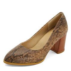 Naisten PU Chunky heel Avokkaat jossa Eläinten Tulosta kengät