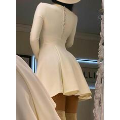 Sequins/Solid Long Sleeves A-line Above Knee Elegant Skater Dresses