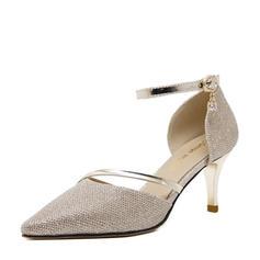 Naisten Kuohuviini glitteri Piikkikorko Sandaalit Avokkaat jossa Split yhteinen kengät