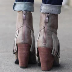Women's PU Chunky Heel Boots With Others shoes