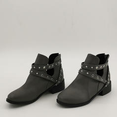 Women's PU Chunky Heel Ankle Boots With Rivet shoes