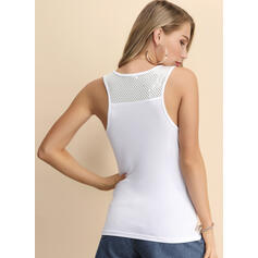 Solid Square Collar Sleeveless Casual Elegant Sexy Tank Tops