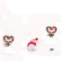 Nizza Bunte Einfache Weihnachten Legierung Faux-Perlen mit Nachahmungen von Perlen Frauen Ohrringe (Satz 6)
