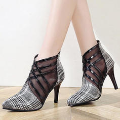 Frauen PU Stöckel Absatz Absatzschuhe mit Geflochtenes Band Schuhe