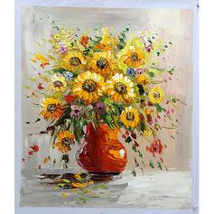 Modern Téglalap Virágos / botanikus festmények