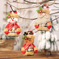 Gnom Schneemann Rentier Santa Weihnachten Leinen Puppe Weihnachtsdekoration