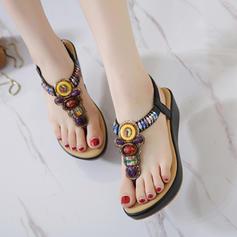 Γυναίκες Καστόρι Γωνία κλίσης Σφήνες Με Τεχνητό διαμάντι παπούτσια