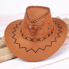 Mænd Vintage Faux Læder Cowboy Hat