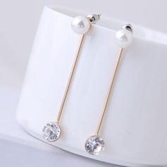 Stylish Alloy Rhinestones Imitation Pearls With Imitation Pearl Women's Fashion Earrings (Set of 2)