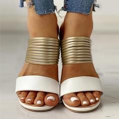 Femmes Suède Talon plat avec Ouvertes chaussures
