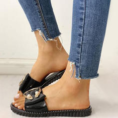 Women's PVC Flat Heel Sandals Flats Peep Toe With Others shoes