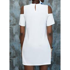 Krótkie rękawy Suknie shift Nad kolana Nieformalny Tunika Sukienki