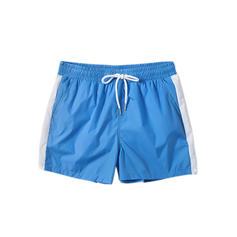 Men's Splice color Lined Swim Trunks