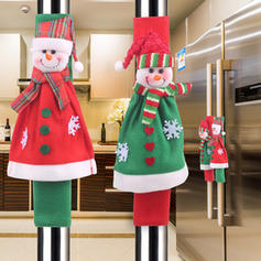 Merry Christmas Snowman Cloth Christmas Décor Fridge Handle Cover (Set of 4)