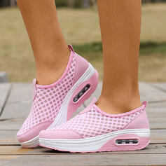 Women's Leatherette Mesh Casual Outdoor Athletic shoes