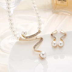 Classic Alloy Imitation Pearls With Imitation Pearl Ladies' Jewelry Sets