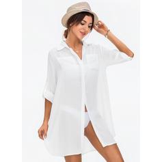 Düz / Tek Renk Modaya Uygun Plaj Elbisesi Fürdőruhák