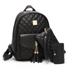 Elegant PU Bag Sets/Backpacks/Wallets & Wristlets