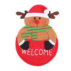 Merry Christmas Snowman Reindeer Santa Cloth Tableware Cover