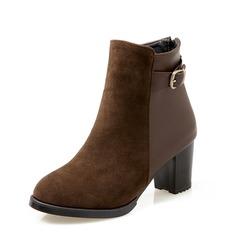 Femmes Suède Similicuir Talon bottier Bottines chaussures