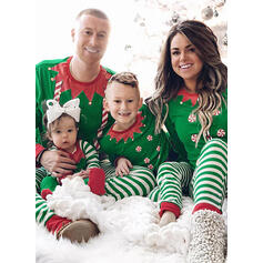 Striped Print Family Matching Christmas Pajamas