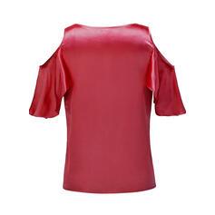 Print Bloemen Cold Shoulder 1/2 Mouwen Casual Pailletten Blouses