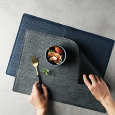 Solid Rectangular Leather Place Mats