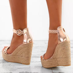 Women's PU Wedge Heel Sandals Platform Wedges Peep Toe With Others shoes