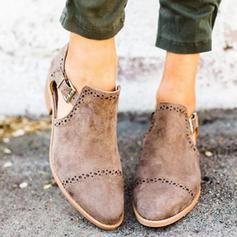 Kvinder PU Lav Hæl Pumps med Spænde sko