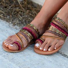 Femmes PU Talon plat Sandales Chaussures plates Chaussons avec Autres chaussures