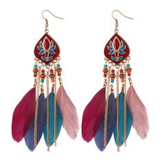 Unique Alloy Feather Women's Fashion Earrings