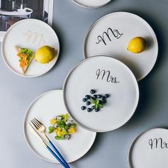 Solid Round Porcelain Dinner Plates