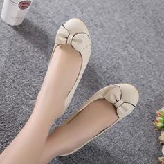 Vrouwen Kunstleer Wedge Heel Pumps Closed Toe Wedges met strik schoenen