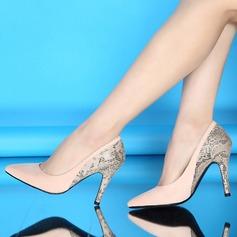 Femmes Suède Similicuir Talon stiletto Escarpins Bout fermé chaussures