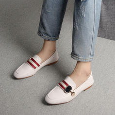 Women's PU Flat Heel Flats Closed Toe With Braided Strap shoes
