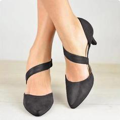 Donna PU Tacco basso Sandalo con Velcro scarpe
