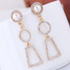 Exquisite Alloy Rhinestones Imitation Pearls With Imitation Pearl Women's Fashion Earrings (Set of 2)