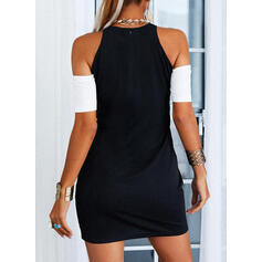 Color Block Short Sleeves Sheath Above Knee Casual/Elegant Dresses