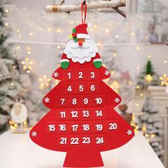 Merry Christmas Hanging Non-Woven Fabric Christmas Advent Calendar
