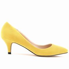 Femmes Suède Talon kitten Escarpins Bout fermé chaussures