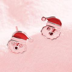 Дід Мороз Срібний Сережки Новорічні прикраси