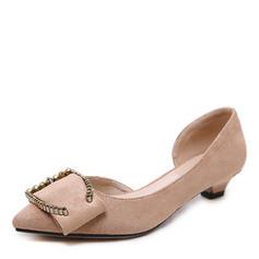 Dla kobiet Zamsz Niski Obcas Czólenka Zakryte Palce Z Kokarda obuwie