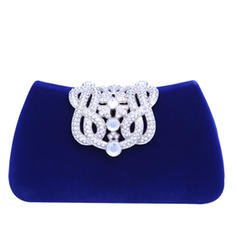 Fashionable Crystal/ Rhinestone/Flannelette Material Clutches/Fashion Handbags