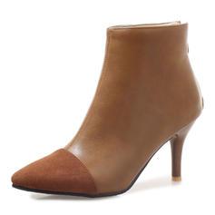 Femmes Suède Similicuir Talon stiletto Escarpins Bottes Bottines Bottes mi-mollets avec Semelle chaussures