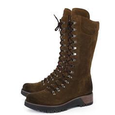 Donna Similpelle Zeppe Stivali Martin boots con Allacciato Colore solido scarpe