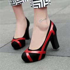 Femmes Velours Talon bottier Escarpins avec Semelle chaussures
