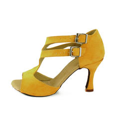 Women's Latin Heels Sandals Suede With Buckle Latin